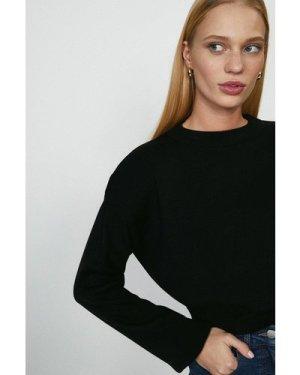 Coast Shoulder Frill Jumper -, Black