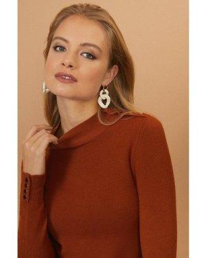Coast Colour Pop Chain Earrings -, Ivory