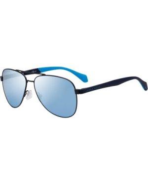 Hugo Boss 1077/S FLL/3J Matte Blue/Azure Mirror