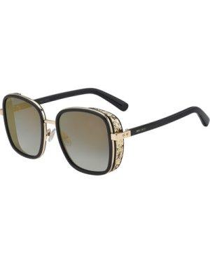 Jimmy Choo Elva/S 2M2/FQ Black-Gold/Grey Gradient-Gold Mirror