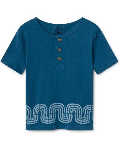 Cotton and linen t-shirt