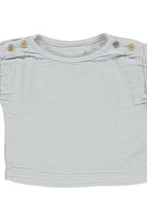 Double cotton gauze t-shirt