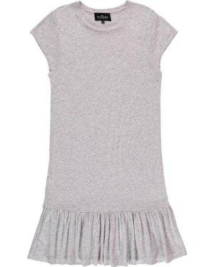 New Blos Rayon and Linen Ruffled Long T-Shirt