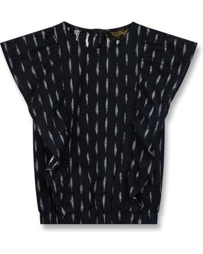 Winger jacquard blouse