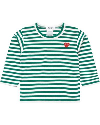 Play Kids striped heart T-shirt