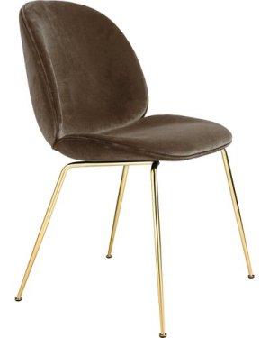 Beetle Padded Chair With Conic Base, GamFratesi, 2013, Brass/Velvet