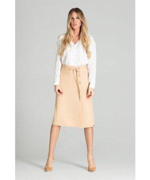 Figl Beige Midi Skirt