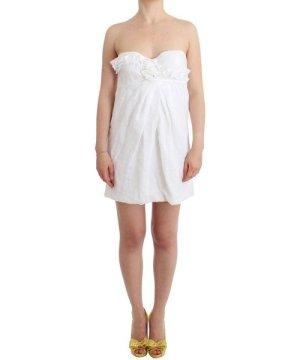 Ermanno Scervino Beachwear White Beach Dress Bustier Mini