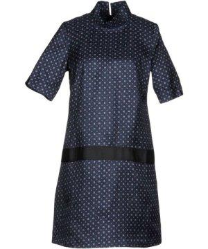 Bini Como Dark Blue Print Short Sleeve Dress