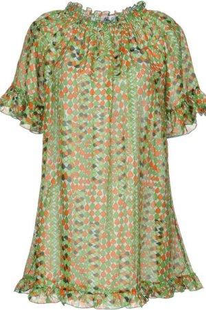 Bini Como DRESSES Light green Woman Cotton