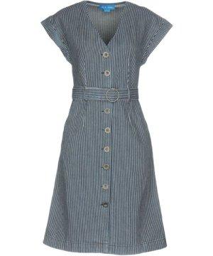 M.I.H Jeans DRESSES Dark blue Woman Cotton