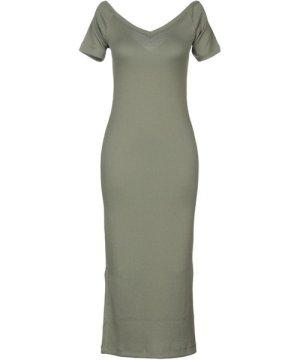 Cheap Monday Military Green Stretch Short Sleeve Dress