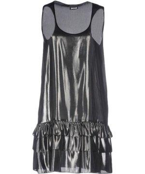 Just Cavalli Steel Grey Ruffle Dress
