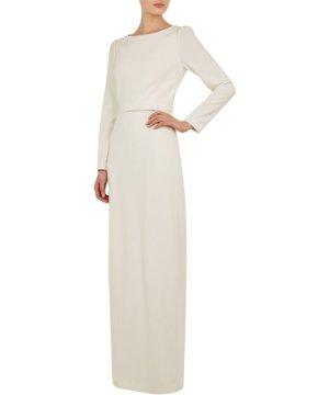 Ted Baker Arriela Open Back Column Dress, White