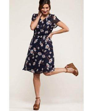 Yumi Navy Daisy Print Skater Dress