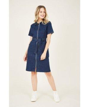 Yumi Zip Shirt Dress