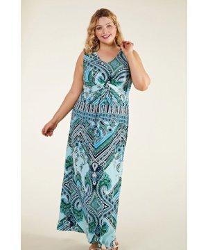 Yumi Scarf Print Maxi Dress