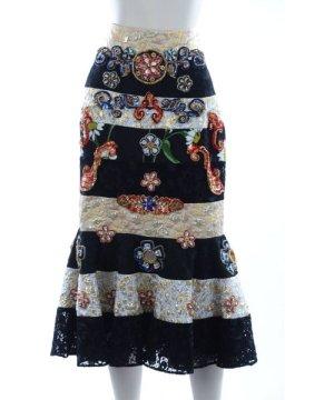 Dolce & Gabbana Women Jewel Midi Skirt
