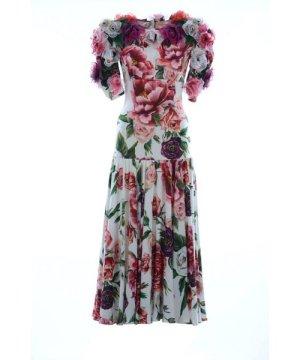 Dolce & Gabbana Women Silk Floral Medium Dress
