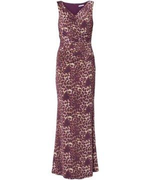 Gina Bacconi Alesana Print Jersey Maxi Dress