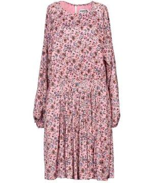 Essentiel Antwerp Pink Floral Print Long Sleeve Dress