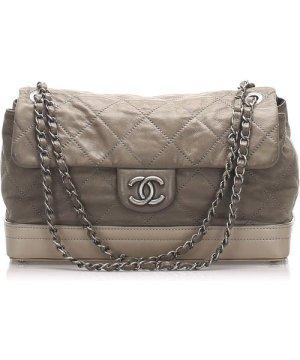 Chanel preowned Vintage Matelasse Leather Shoulder Bag Gray