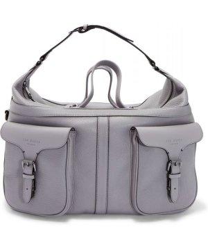 Ted Baker Gansu Fashion Leather Holdall, Grey