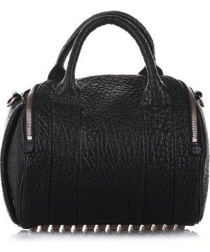 Alexander Wang Vintage Rockie Leather Satchel Black