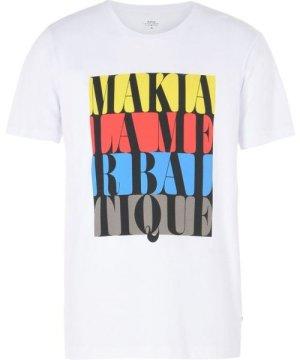 Makia White Cotton Print T-Shirt