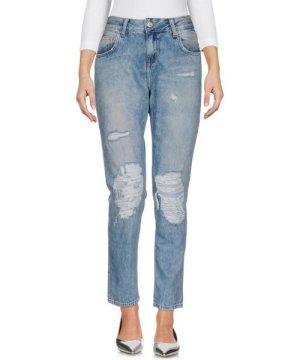 Brian Dales Blue Cotton Slim Fit Jeans