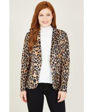 Mela London Leopard Printed Military Jacket