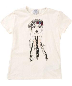 Armani Junior TOPWEAR Ivory Girl Cotton