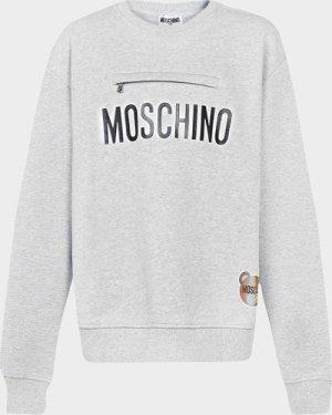 Kid's Moschino Zip Sweatshirt Grey, Grey