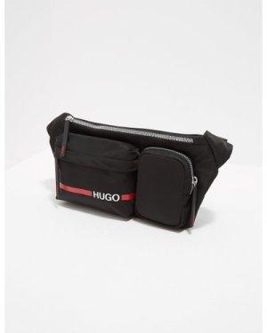 Men's HUGO Record Stripe Bum Bag Black, Black/Black