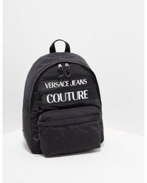 Men's Versace Jeans Couture Large Logo Backpack Bag Black, Black