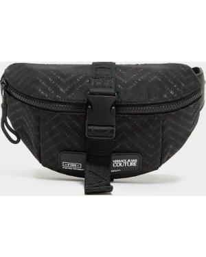 Men's Versace Jeans Couture Chevron Square Logo Bum Bag Black, Black