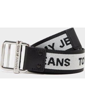 Women's Tommy Jeans 3.5 Web Belt Multi, White/Black