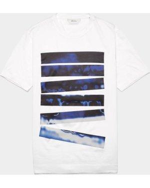 Men's Z Zegna Graphic Short Sleeve T-Shirt White, White