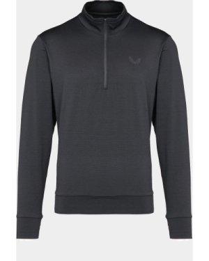 Men's Castore Quarter Zip Sweatshirt Black, Black