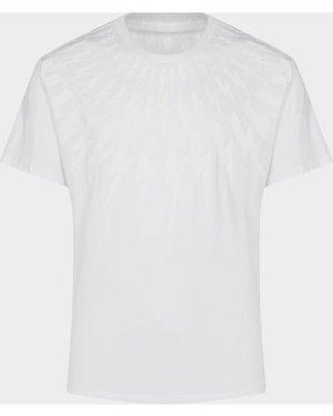 Men's Neil Barrett Bolt Mane Short Sleeve T-Shirt White, White