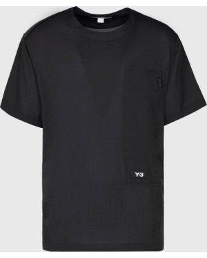 Men's Y-3 Logo Feather Short Sleeve T-Shirt Black, Black