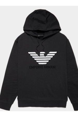 Men's Emporio Armani Reflective Eagle Hoodie Black, Black