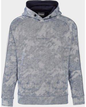 Men's Emporio Armani Cloud Overhead Hoodie Multi, Grey/Blue