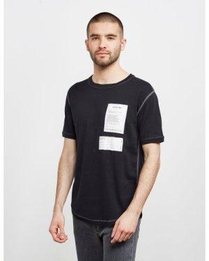 Men's Helmut Lang Patch Short Sleeve T-Shirt Black, Black