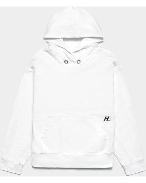 Men's Helmut Lang Logo Hoodie White, White