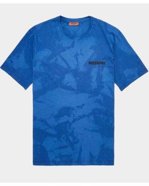 Men's Missoni Tie Dye Short Sleeve T-Shirt Blue, Navy