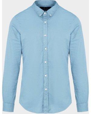 Men's Polo Ralph Lauren Good Dyed Chino Long Sleeve Shirt Blue, Blue/Blue
