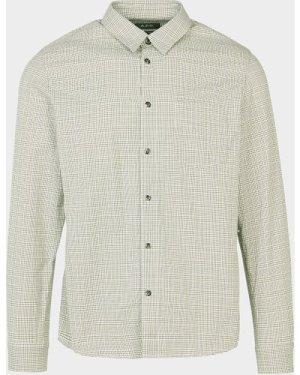 Men's A.P.C Mic Check Long Sleeve Shirt Green, Green
