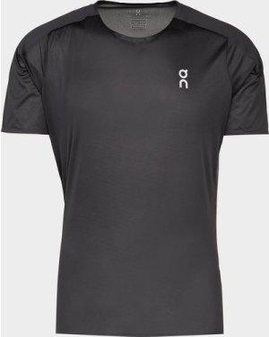 Men's On running Performance Polyester T-Shirt Black, Black