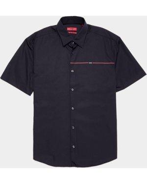 Men's HUGO Ermi Linea Short Sleeve Shirt Black, Black/Black